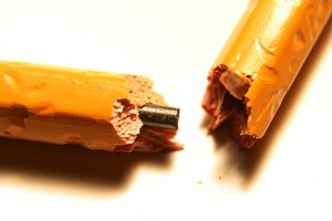 Chewed pencil
