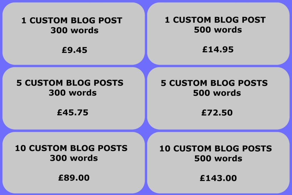 custom blog writing service